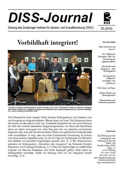 Abbildung: Titelseite des DISS-Journals 20