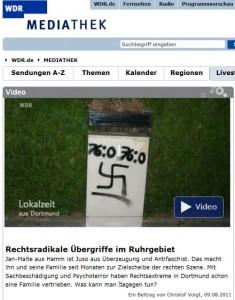 Bildschirmfoto WDR Lokalzeit Dortmund 9.8.2011