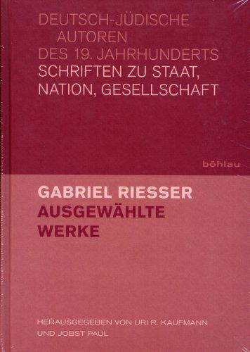 Abbildung Cover Gabriel Riesser Bd. 1