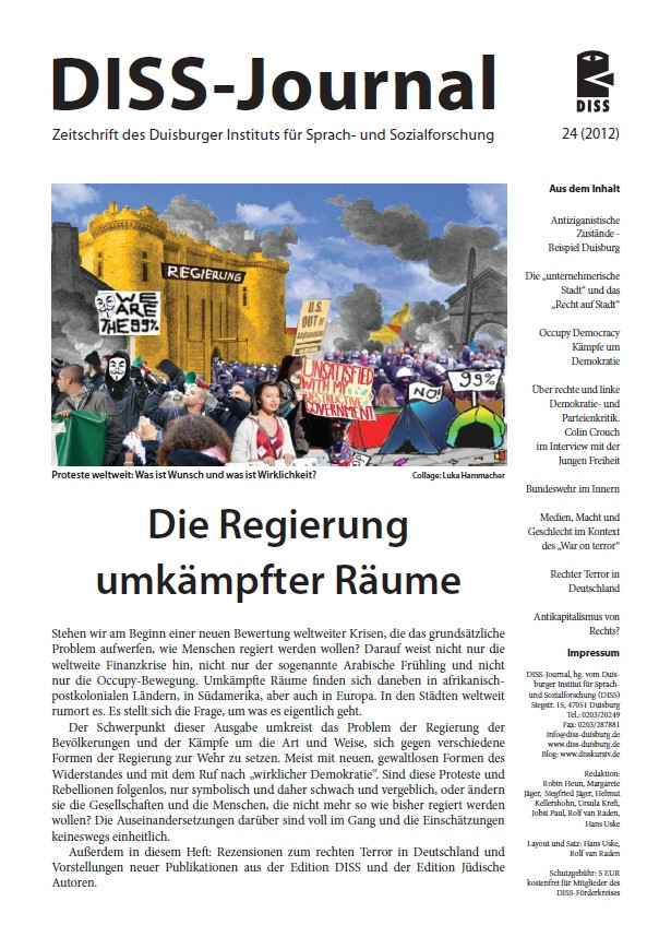 Abbildung: Titelseite DISS-Journal 24, Nov. 2012